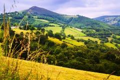 从高峰的山 Asturia,西班牙 库存照片