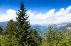 从高峰的比利牛斯山 免版税图库摄影