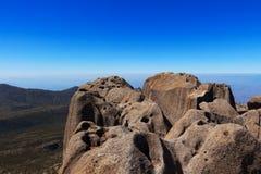 高峰Agulhas Negras (黑针)山,巴西 库存图片