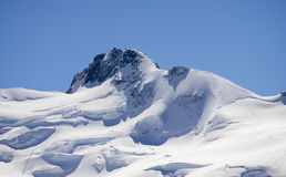 高峰Dufour、Dufourspitze或者蓬塔Dufour 图库摄影