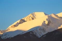 高峰Vihren (2914 m)在日出 库存照片