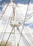 高帆柱的船 库存图片