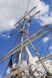 高帆柱的船 免版税库存照片