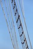 高帆柱的船 图库摄影