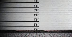 高度在墙壁上的测量图 免版税库存图片