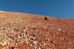高度火山的风景 免版税库存照片