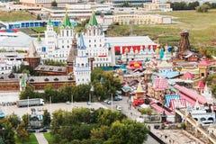 从高度的看法到Izmailovo克里姆林宫 免版税库存照片