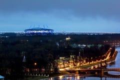 从高度的看法在河内娃和Zenit竞技场 免版税图库摄影