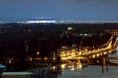 从高度的看法在河内娃和Zenit竞技场 库存照片