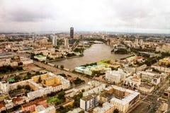 从高度的Ekaterinburg 免版税库存照片