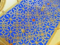 高度装饰的教会天花板 库存照片