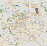 高度详细的北京城市道路网络映射 库存照片