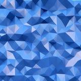 高度详细的多色多角形照片  蓝色几何弄皱的三角多角形样式 正方形 3d回报 库存例证