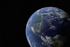 高度从空间的详细的行星 美国航空航天局装备的这个图象的元素 库存图片