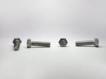 高强度螺栓的看法从所有四边的 库存图片