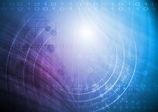 高技术向量背景 免版税图库摄影