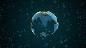 高技术地球 向量例证