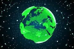 高技术地球 图库摄影