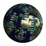 高技术地球 免版税库存图片