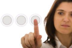 高技术按钮 免版税图库摄影