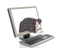 高技术计算机 免版税库存图片