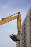 高挖掘机的胳膊 免版税库存照片