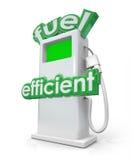 高效燃料的汽油柴油泵浦金钱的力量能量 库存例证
