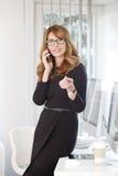 高效率的女实业家 免版税库存图片