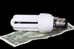 高效的能源光 免版税图库摄影