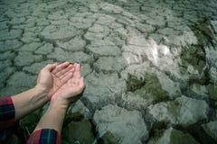 高明的地面泥天旱特写镜头 免版税库存照片