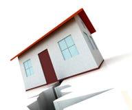 高明的显示房产市场拒绝的之家 向量例证