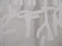 高明的水泥墙壁修理 免版税图库摄影