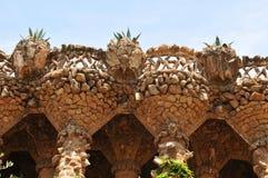 高架桥在公园Guell,巴塞罗那 图库摄影