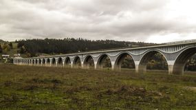 高架桥` Poiana Teiului ` 图库摄影