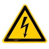 高查出的符号电压白色 库存照片