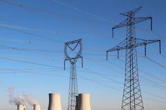 高核工厂次幂塔电压 库存照片