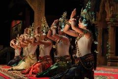 高棉古典舞蹈在柬埔寨 库存图片