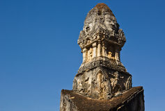 高棉在wat Phra Si Ratana Mahaphat, Si Satchanalai,泰国的样式雕象 免版税库存照片