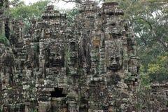 高棉寺庙细节 免版税库存照片