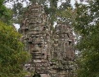 高棉寺庙细节 免版税库存图片