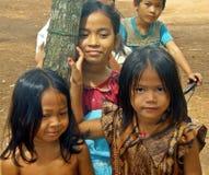 高棉朋友 免版税库存照片