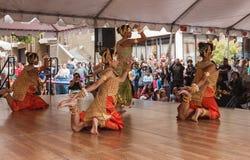 高棉柬埔寨人舞蹈家 免版税图库摄影