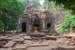 高棉老挝phu寺庙wat 库存照片