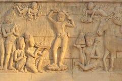 高棉艺术古庙 免版税库存照片
