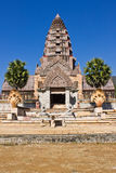 高棉艺术城堡在泰国 免版税库存图片