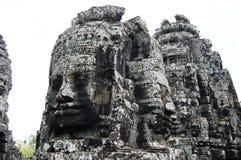 高棉吴哥寺庙在暹粒省柬埔寨的Prasat Bayon 免版税库存照片