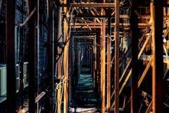 高楼的建造场所在北京 免版税库存图片
