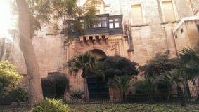 高段棋手的宫殿在瓦莱塔 免版税图库摄影