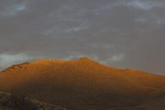 高沙漠日落山 免版税库存图片