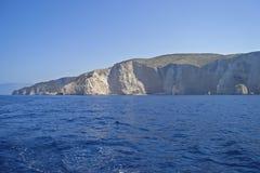 高海岸,希腊 免版税库存照片